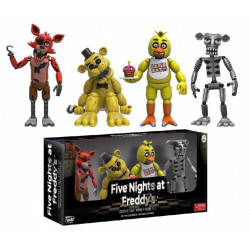 Набор фигурок Five Nights at Freddy's: Foxy, Gold Freddy, Chica, Endoskeleton Freddy (8см)