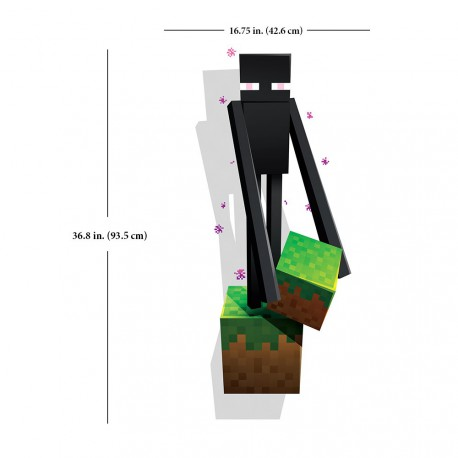 Наклейка на стену Minecraft Enderman Sticker 50см х 70см