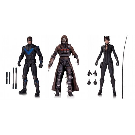 Набор фигурок Бэтмен - Nightwing, Catwoman, Scarerow - Batman Arkham Knight (18см)