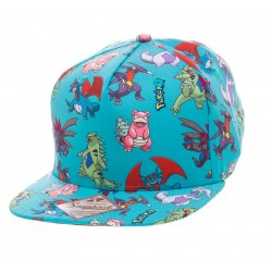 Бейсболка Pokémon - Characters All over Snapback