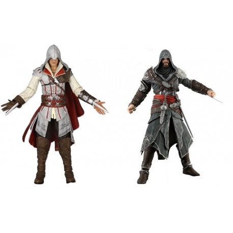 Фигурки 2в1 Assassin's Creed II Ezio Master Assassin и Revelations - Ezio Auditore The Mentor (18см)