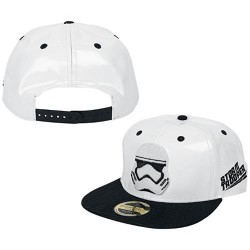 Бейсболка Star Wars White With Storm Trooper Embroidery And Black Bil