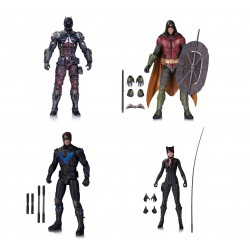 Набор фигурок Бэтмен - Batman, Robin, Catwoman, Nightwing - Batman Arkham Knight (18см)