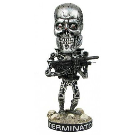 Фигурка Terminator 2 Терминатор 2 Endoskeleton Head Knocker(18см)