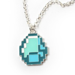 Кулон на цепочке Minecraft Diamond Pendant Necklace