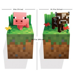 Наклейка на стену Minecraft Baby Pig and Baby Cow 50см х 50см