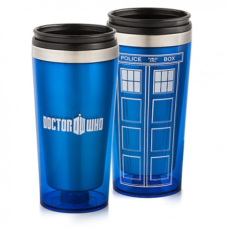 Кружка термос в виде Тардиса TARDIS по сериалу Доктор Кто (Doctor Who) thinkgeek