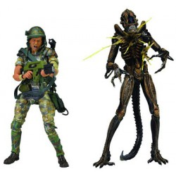 Фигурка Aliens Hudson vs Brown Warrior 2 Pack (18cm)