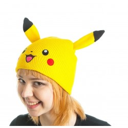 Шапка Покемон - Pikachu Beanie with Ears