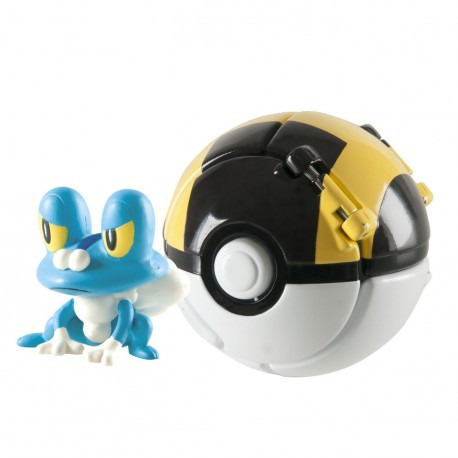Фигурка Покемон - Pokemon Throw 'n' Pop Pokeball Froakie and Ultra Ball