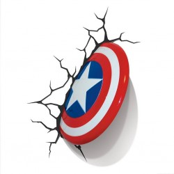 Светильник 3D Captain America Shield