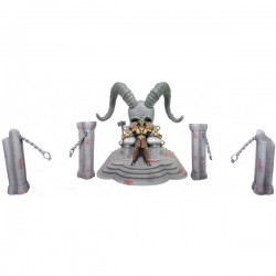 Набор Трон Шао Кана - Mortal Kombat Shao Kahn Throne and Arena Playset (13см)
